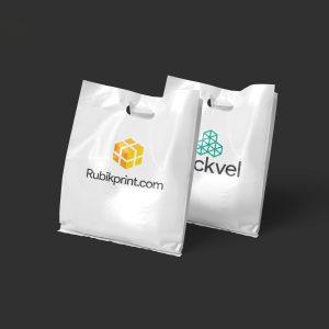 Plastic Shopping Bag Rubik Print